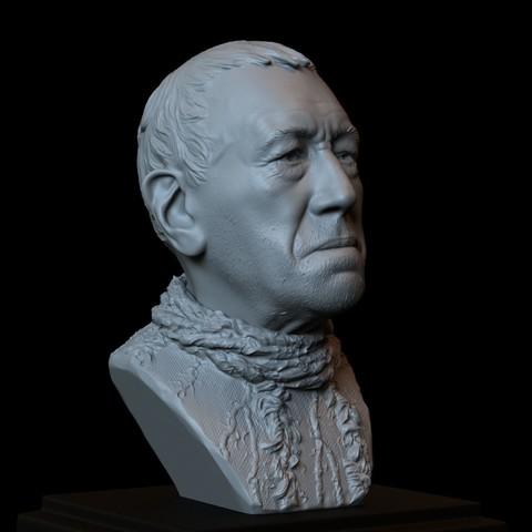 Télécharger plan imprimante 3D Corbeau à trois yeux (Max Von Sydow) Jeu de personnage de Thrones, Modèle 3d imprimable, Buste, Portrait, Sculpture, 153mm de hauteur, fichier STL téléchargeable, sidnaique