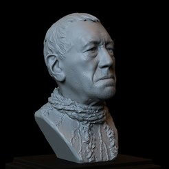 3D printer files Three Eyed Raven (Max Von Sydow) Game of Thrones character, 3d Printable Model, Bust, Portrait, Sculpture, 153mm tall, downloadable STL file, sidnaique