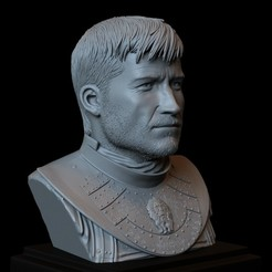 Download 3D printer designs Jaime Lannister from Game of Thrones, Portrait, Bust, 200mm, sidnaique