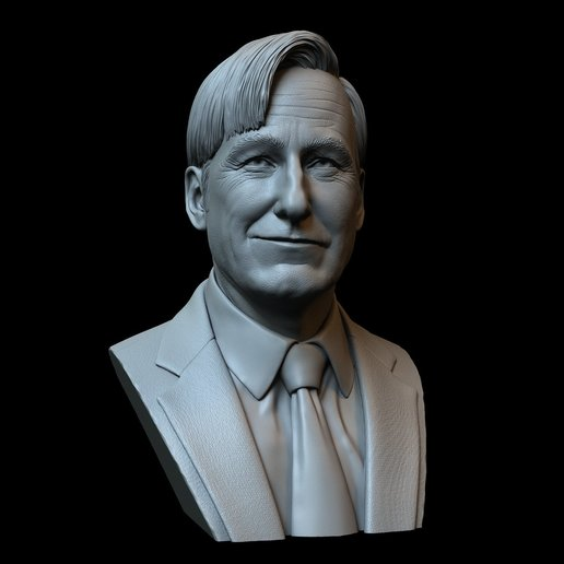 Saul02.jpg Download STL file Saul Goodman aka Jimmy McGill (Bob Odenkirk) from Breaking Bad and Better Call Saul • Model to 3D print, sidnaique