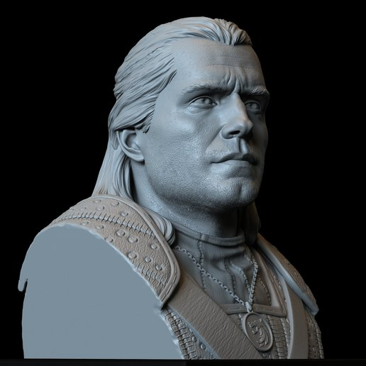 Download 3D printing models Geralt of Rivia from The Witcher, 3d Printable Bust, sidnaique