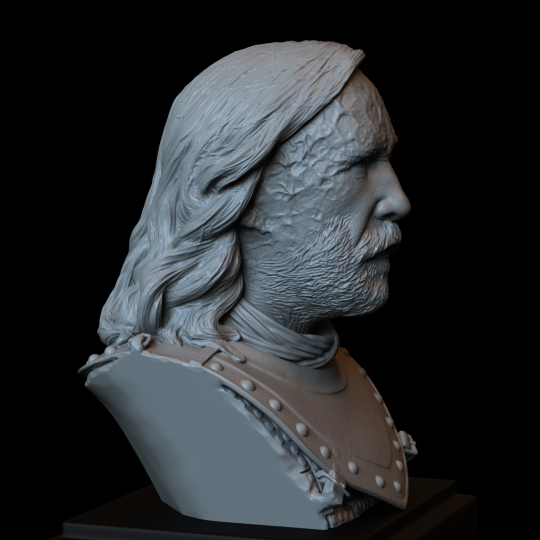 Sandor06.RGB_color.jpg Download STL file Sandor Clegane aka The Hound from Game of Thrones - 3d print model, bust, portrait • 3D printing object, sidnaique