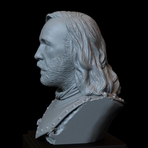 Sandor04.RGB_color.jpg Download STL file Sandor Clegane aka The Hound from Game of Thrones - 3d print model, bust, portrait • 3D printing object, sidnaique