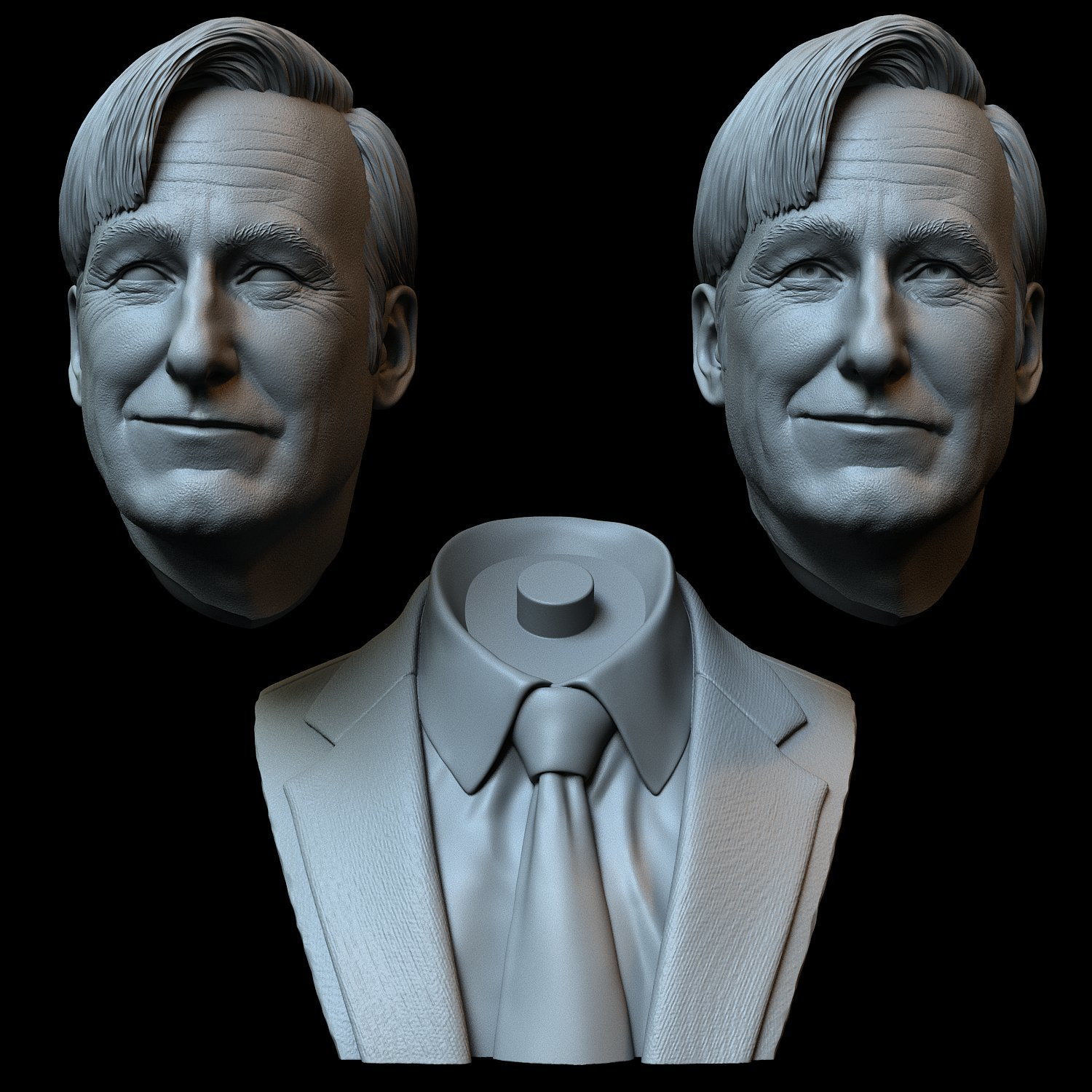 Saul07.jpg Download STL file Saul Goodman aka Jimmy McGill (Bob Odenkirk) from Breaking Bad and Better Call Saul • Model to 3D print, sidnaique