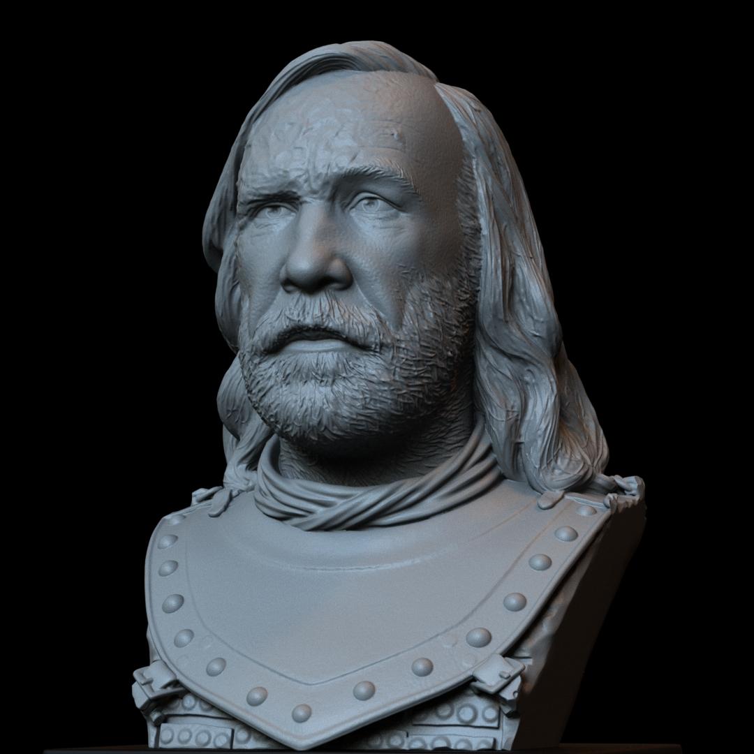 Sandor08.RGB_color.jpg Download STL file Sandor Clegane aka The Hound from Game of Thrones - 3d print model, bust, portrait • 3D printing object, sidnaique