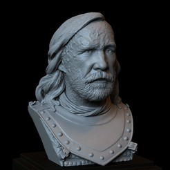 Download 3D printer designs Sandor Clegane aka The Hound from Game of Thrones - 3d print model, bust, portrait, sidnaique
