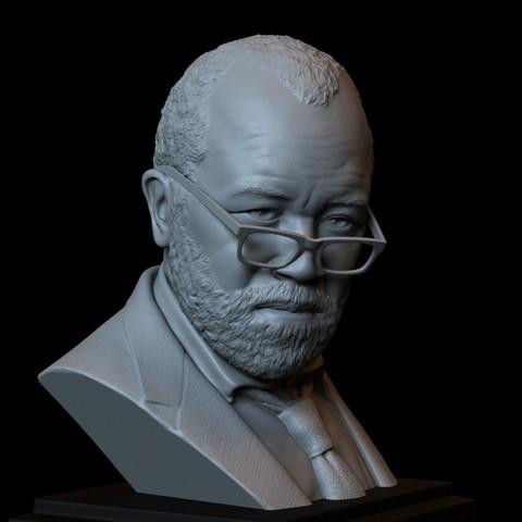 Télécharger STL Bernard Lowe (Jeffrey Wright) Westworld HBO - modèle imprimé 3d, portrait, buste, sculpture - hauteur 200 mm, sidnaique