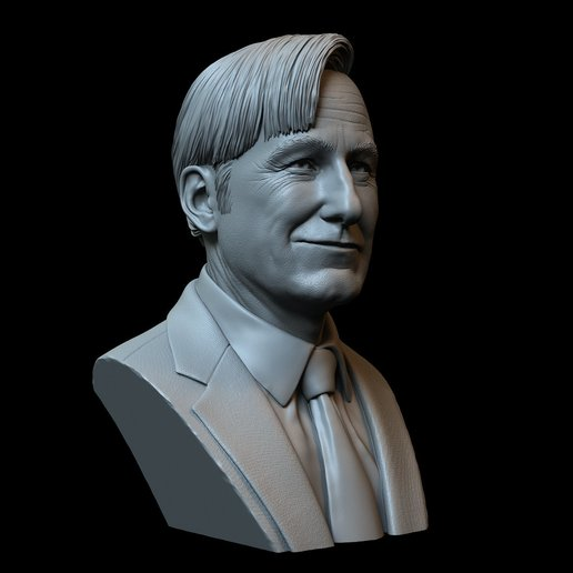 Saul01.jpg Download STL file Saul Goodman aka Jimmy McGill (Bob Odenkirk) from Breaking Bad and Better Call Saul • Model to 3D print, sidnaique