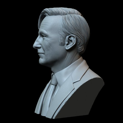 Saul06.jpg Download STL file Saul Goodman aka Jimmy McGill (Bob Odenkirk) from Breaking Bad and Better Call Saul • Model to 3D print, sidnaique