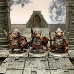 Descargar modelo 3D gratis Ratfolk Burrowguard (escala 32mm), Dutchmogul
