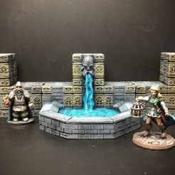 Impresiones 3D gratis ScatterBlocks: Dwarven Fountain (28 mm / escala heroica), Dutchmogul