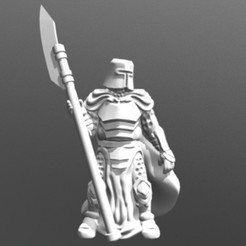 Free STL Knight w/Polearm (28mm/Heroic scale), Dutchmogul