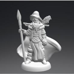Free 3d print files Wotan the Wanderer (18mm scale), Dutchmogul