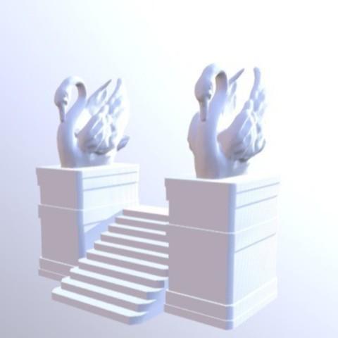 Free 3D printer designs Swan Stairs, Dutchmogul