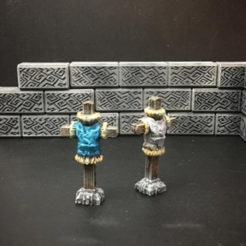 archivos 3d Delving Decor: Maniquí Sparring (escala de 28mm / Heroic) gratis, Dutchmogul