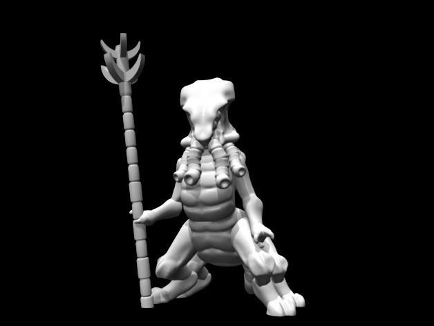 0d478f81b47a3161adda5691258a007b_preview_featured.jpg Download free STL file Mystic Alien (28mm/Heroic scale) • 3D printing template, Dutchmogul