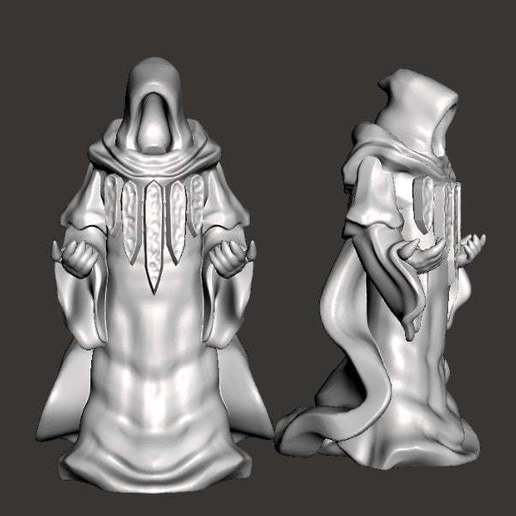 Download free 3D printer designs Guild Mage (with Sculptris dummy) (32mm scale), Dutchmogul
