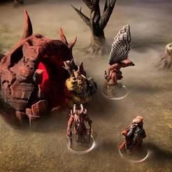Download free 3D printing templates Hellmouth (Kingdoms of Hell terrain), Dutchmogul