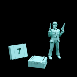 SmallMagCrate.png Download free STL file Numeric Objective Markers: Small Mag-Crate • Object to 3D print, Dutchmogul