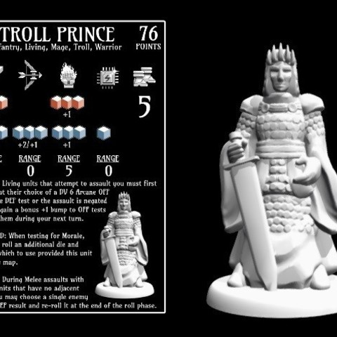 25fe64b1fb24419d295f2c0d43a984d1_preview_featured.jpg Download free STL file Troll Prince (18mm scale) • Template to 3D print, Dutchmogul