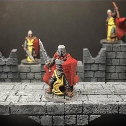 Free 3D printer designs Knight (28mm scale Wrath & Ruin preview model), Dutchmogul