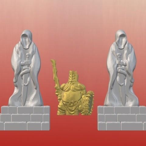Download free 3D printer templates Dark Gothic Corner Statues (28mm/32mm scale), Dutchmogul