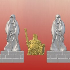 Download free 3D printer templates Dark Gothic Corner Statues (28mm/32mm scale), Dutchmogul
