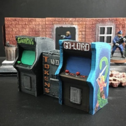 Free 3d printer designs Arcade Cabinets (28mm/Heroic scale), Dutchmogul