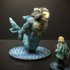 Free 3d printer files Merlion (28mm/Heroic scale), Dutchmogul