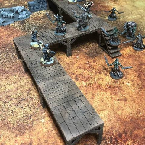 Free stl file ScatterBlocks: Wooden Platforms (28mm/32mm scale), Dutchmogul