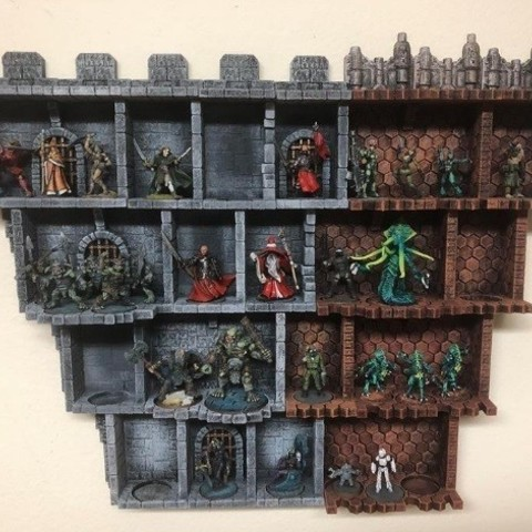 photo about 3d Printable Dungeon Tiles identified as ZDungeon (experimental dungeon tiles)