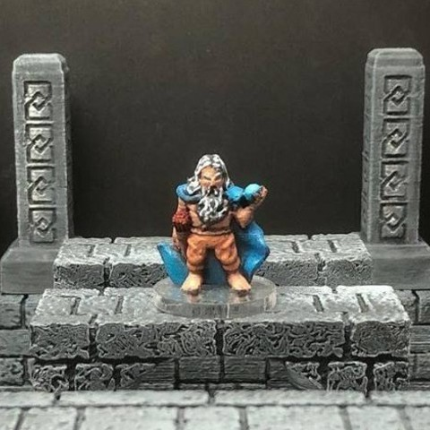 Free 3D printer designs Thyrik, Hill Dwarf Sorcerer (28mm/Heroic scale), Dutchmogul