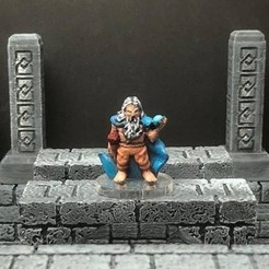 Free 3D file Thyrik, Hill Dwarf Sorcerer (28mm/Heroic scale), Dutchmogul
