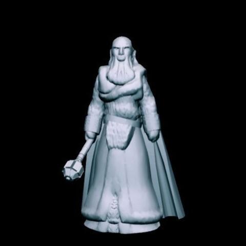 Free 3D print files Kharek, Wrathful Priest (32mm scale), Dutchmogul