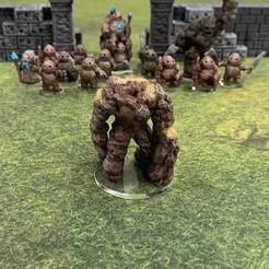 Download free 3D print files Earth Elemental (28mm/32mm scale), Dutchmogul