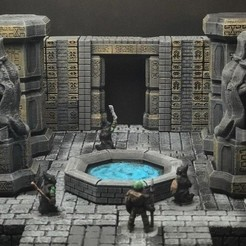 Free ScatterBlocks: Dwarven Statue (Heroic Scale) 3D printer file, Dutchmogul