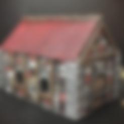 Imprimir en 3D gratis Casa medieval (escala de 15mm), Dutchmogul