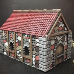 Free 3D printer designs Medieval Cottage (15mm scale), Dutchmogul
