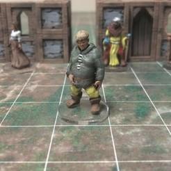 Free 3D printer model Townsfolke: Oaf (28mm/Heroic scale), Dutchmogul