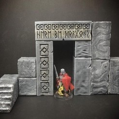 Free 3D printer designs ScatterBlocks: Runic Gateway (28mm/Heroic scale), Dutchmogul
