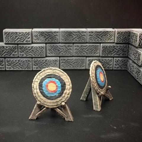Download free STL file Delving Decor: Archery Target (28mm/Heroic scale) • 3D printer template, Dutchmogul