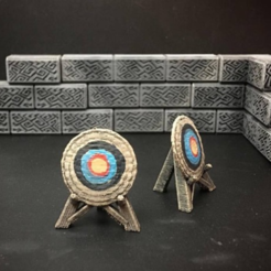 Free stl files Delving Decor: Archery Target (28mm/Heroic scale), Dutchmogul