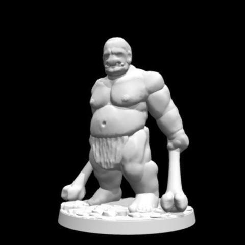 Descargar archivos 3D gratis Ogro salvaje (escala de 28mm / Heroic), Dutchmogul