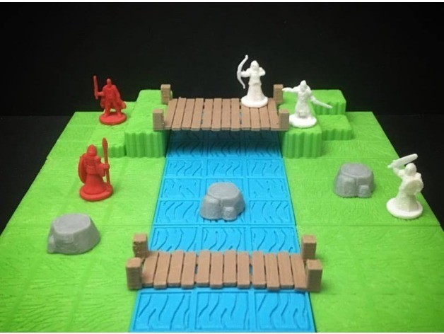 4705b281f3694ab2b22a91b80452de64_preview_featured.jpg Download free STL file Modular Grassland Tactics Tiles (18mm scale) • 3D printable model, Dutchmogul