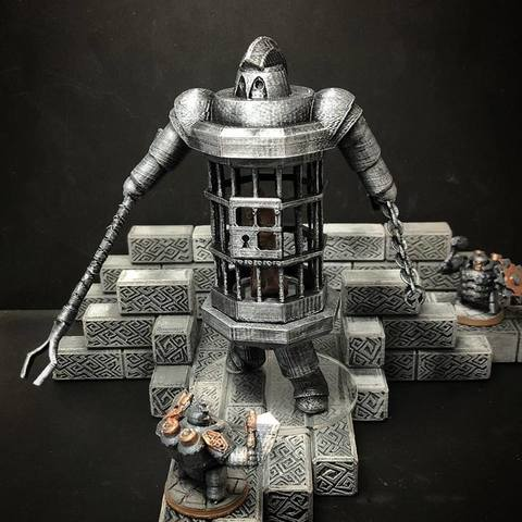 Free 3D printer designs Netherforged Iron Jailer (28mm/32mm scale), Dutchmogul