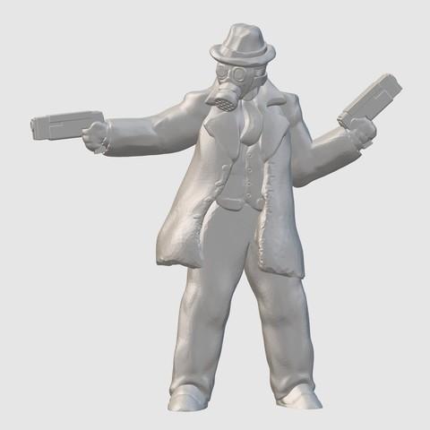 Free 3D printer files NoirPunk Gunfighter (28mm/32mm scale), Dutchmogul