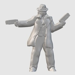 Free 3D printer files NoirPunk Gunfighter (28mm/32mm scale), Dutchmogul