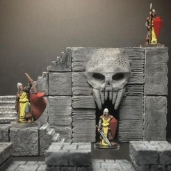 Free 3D printer file ScatterBlocks: Skull Gate (28mm/Heroic scale), Dutchmogul