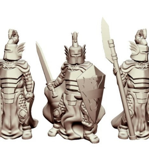 dbeb466b9e7b49aabb3fc216e556de19_preview_featured.jpg Download free STL file Dragon Knights (28mm/Heroic scale) • 3D printer model, Dutchmogul