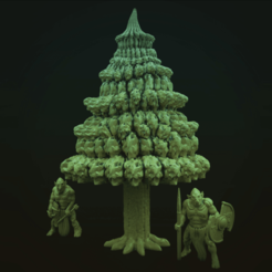 PineTree.png Download free STL file Evergreen Tree • 3D printable model, Dutchmogul